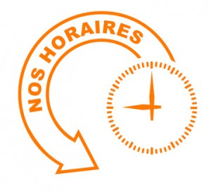 nos horaires flche orange