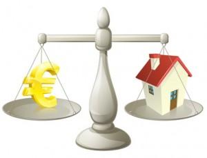 House cash euro scales concept